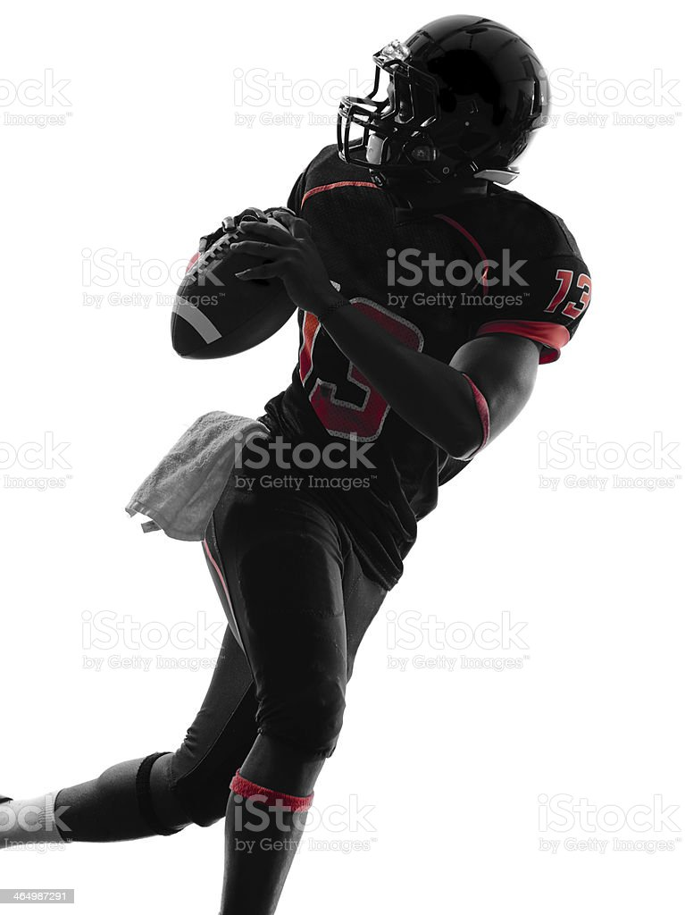 american football player quarterback portrait silhouette stock photo