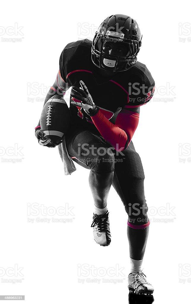 american football player runner running silhouette stock photo
