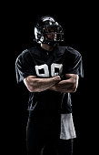 American football player standing