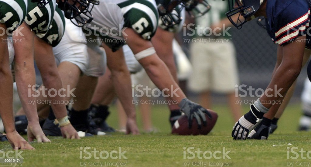 American Football Players at American Football Game stock photo