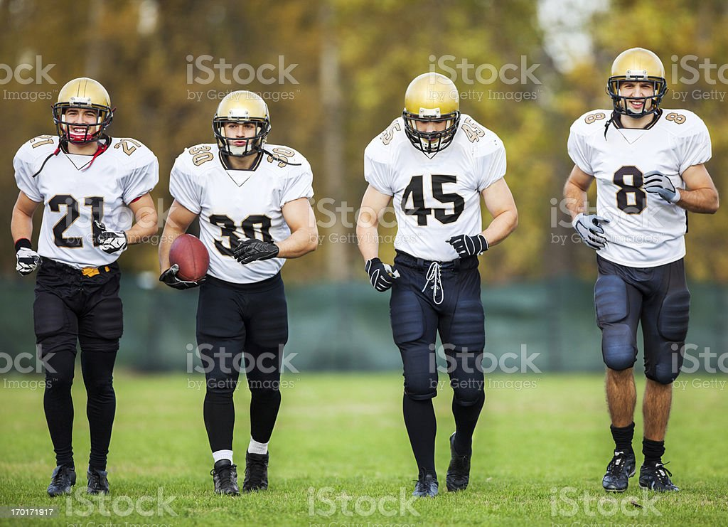American Football Players on the field. royalty-free stock photo