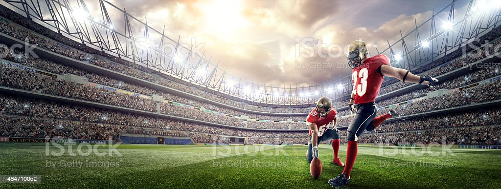 American football players stock photo