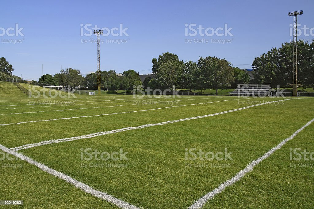 American football playing field royalty-free stock photo
