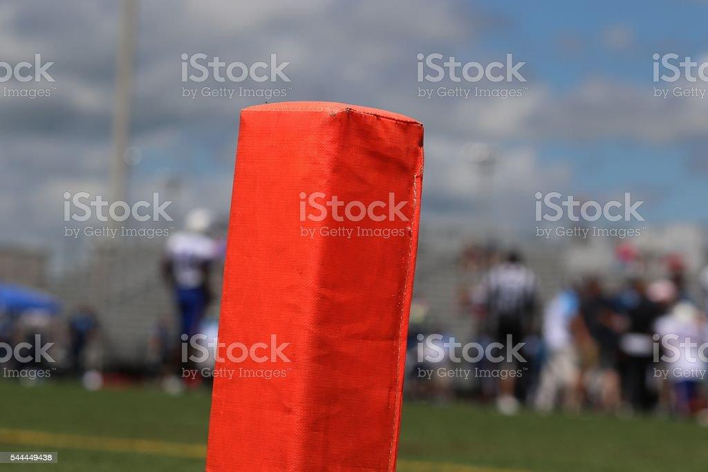 American Football pylon stock photo