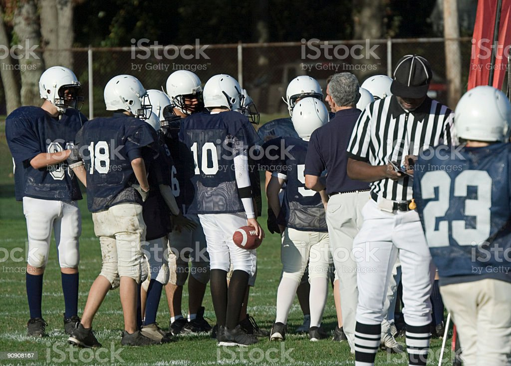 American Football Series royalty-free stock photo