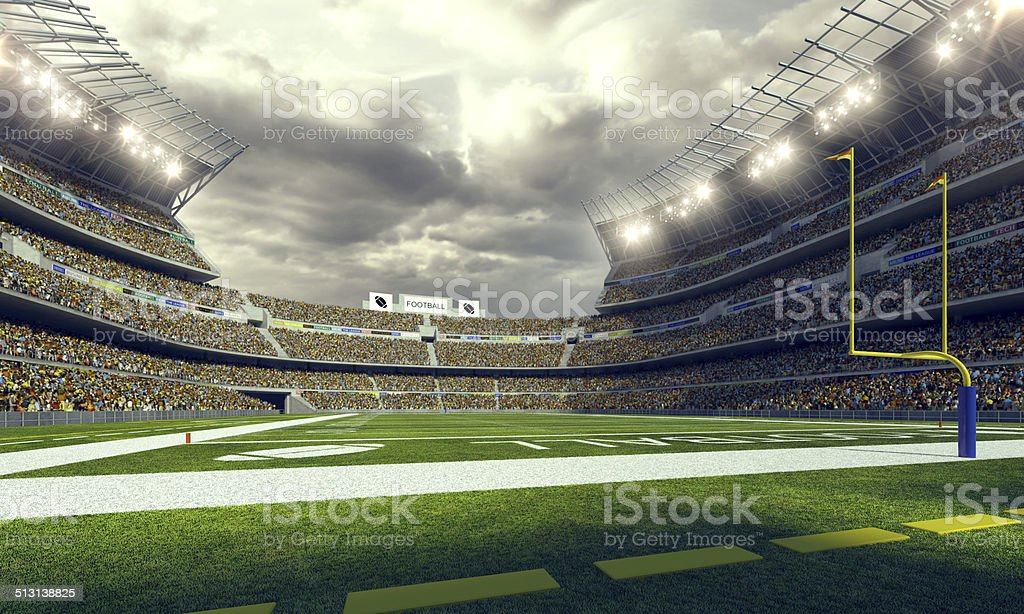 American Football Stadium 3d render stock photo