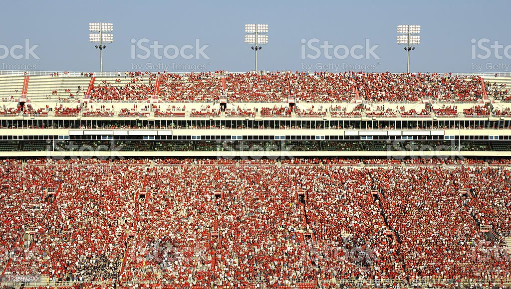 American Football Stadium Full of Spectators stock photo