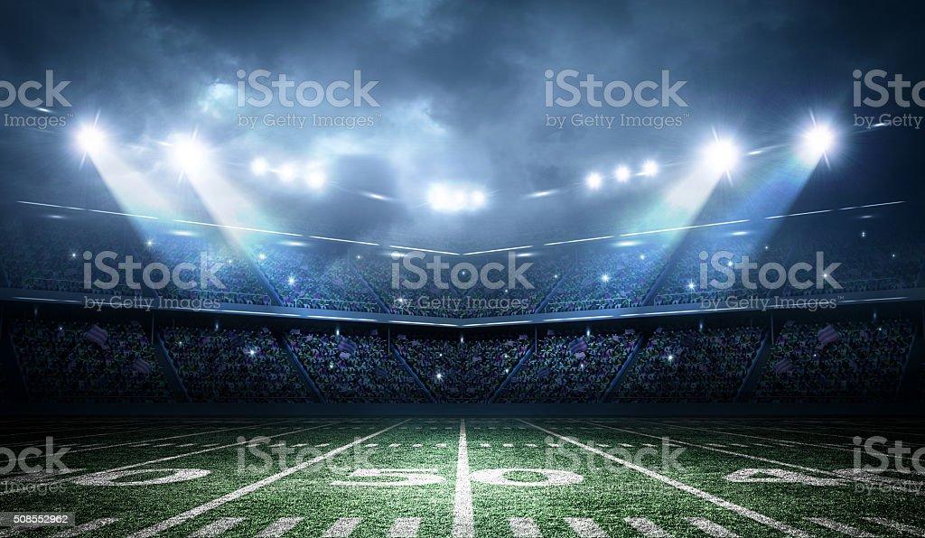 american football stadium stock photo