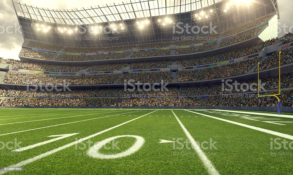 American Football Stadium stock photo