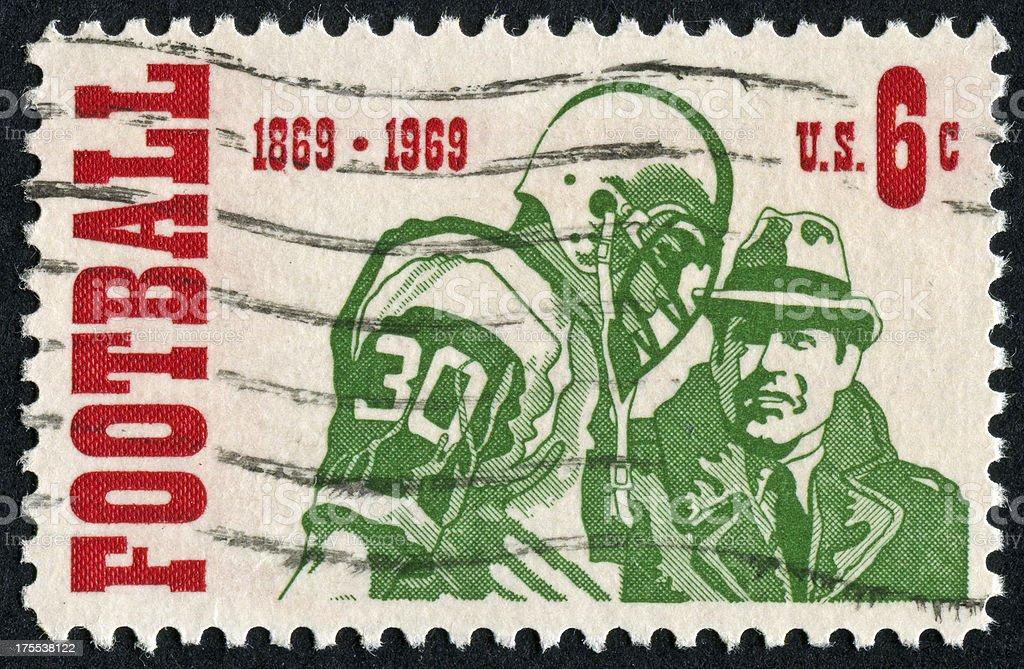 American Football Stamp stock photo