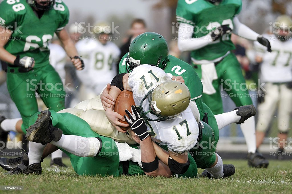 American Football tackle stock photo