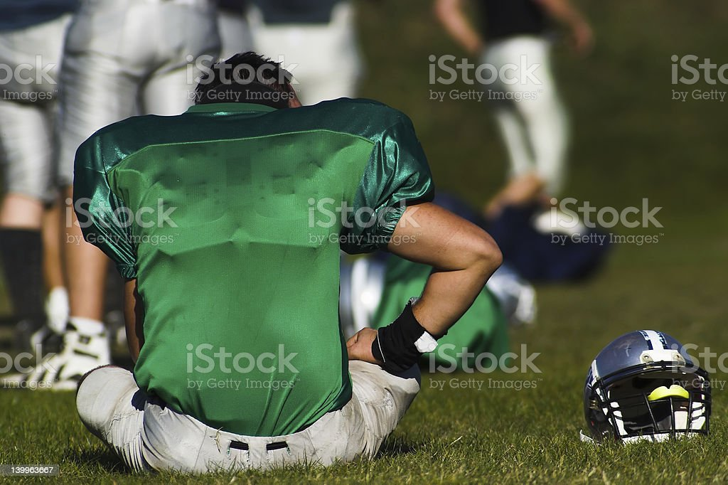 American football - Take a rest royalty-free stock photo