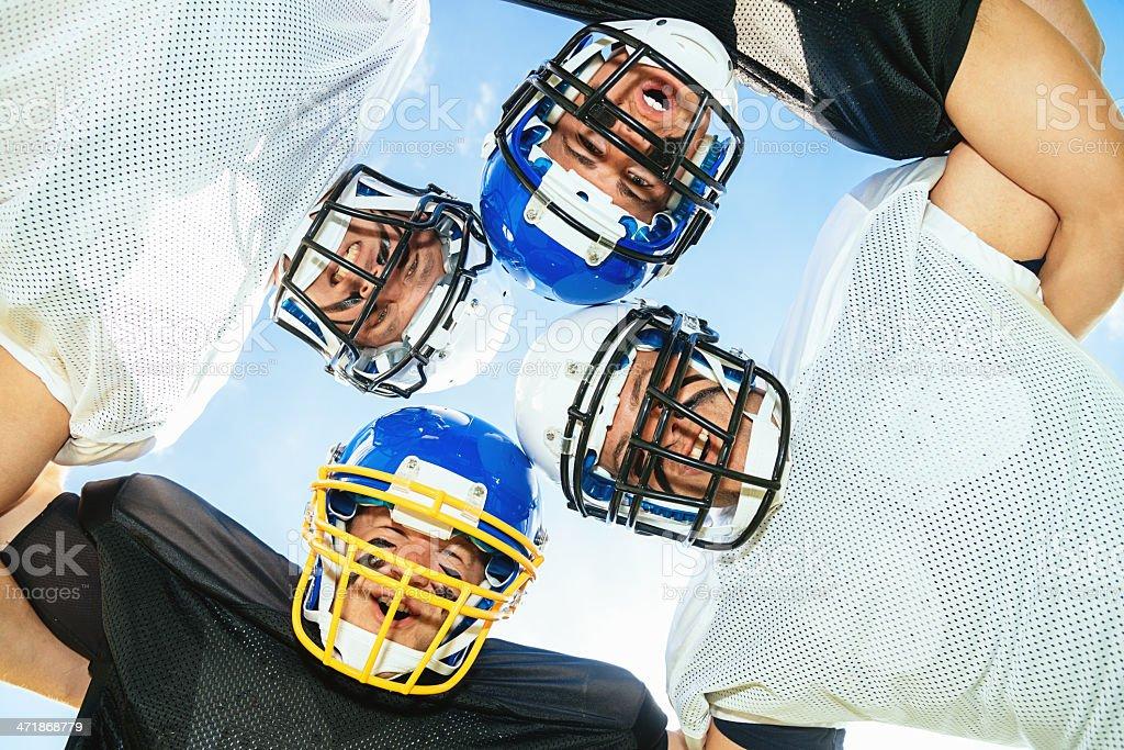 American Football Team Circle royalty-free stock photo