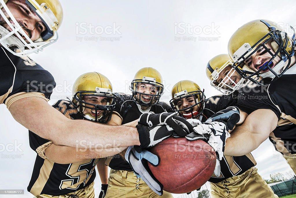 American Football team. royalty-free stock photo