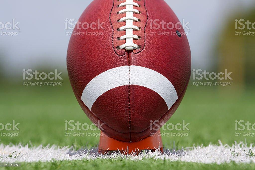 American Football Teed Up stock photo