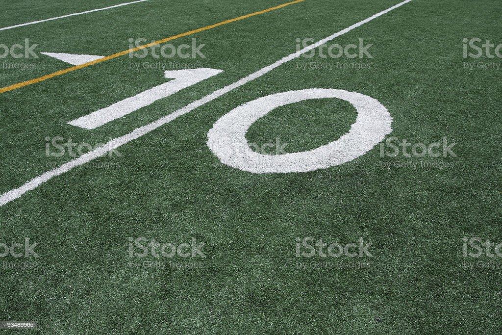 American Football Ten Yard Line