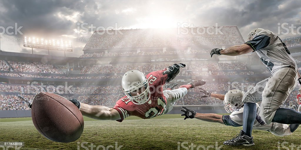 American Football Touchdown stock photo