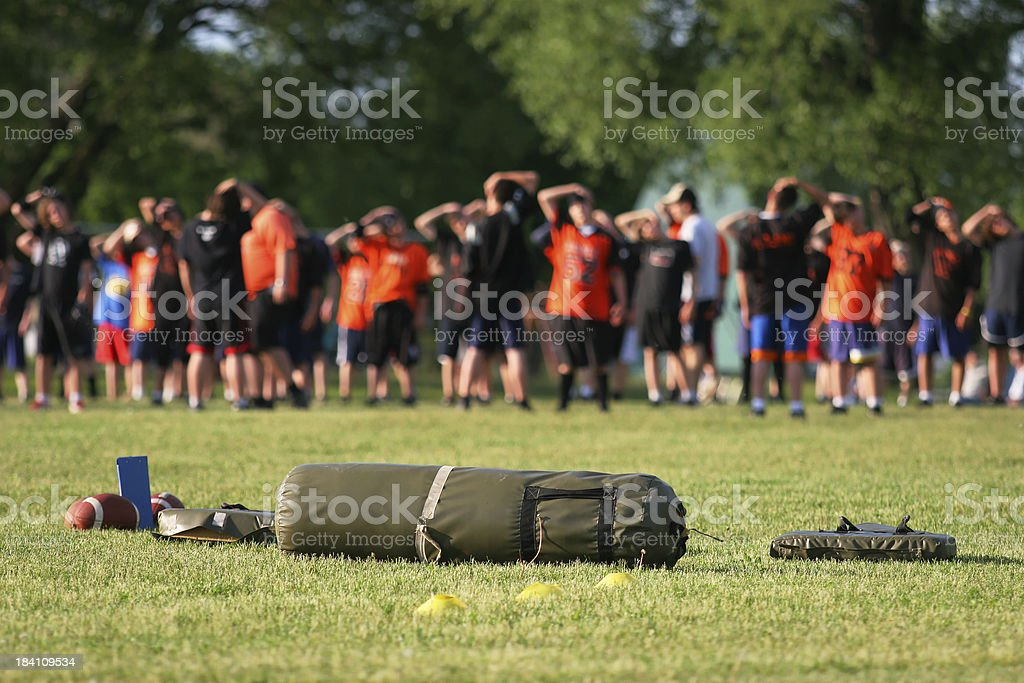 American Football Training Camp stock photo