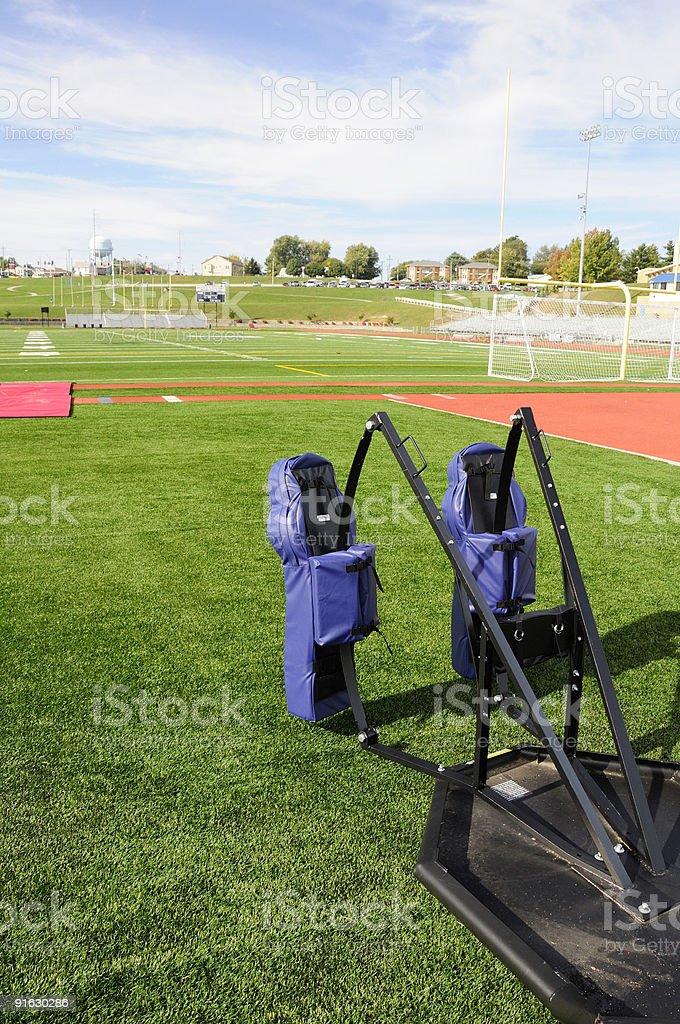 American Football Training royalty-free stock photo