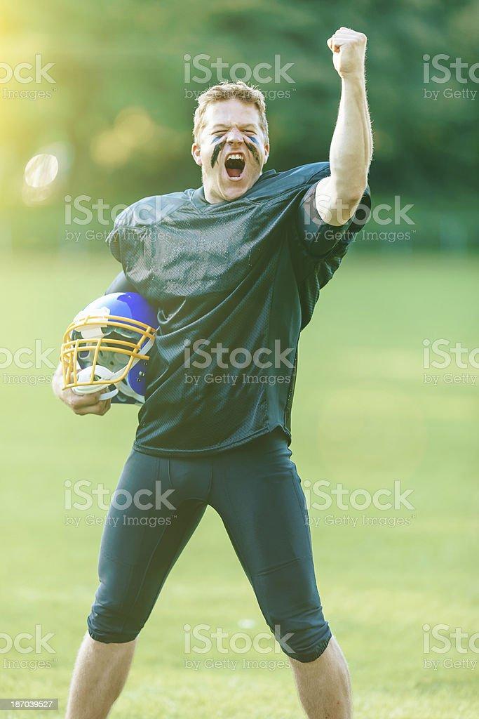 American Football Victory royalty-free stock photo