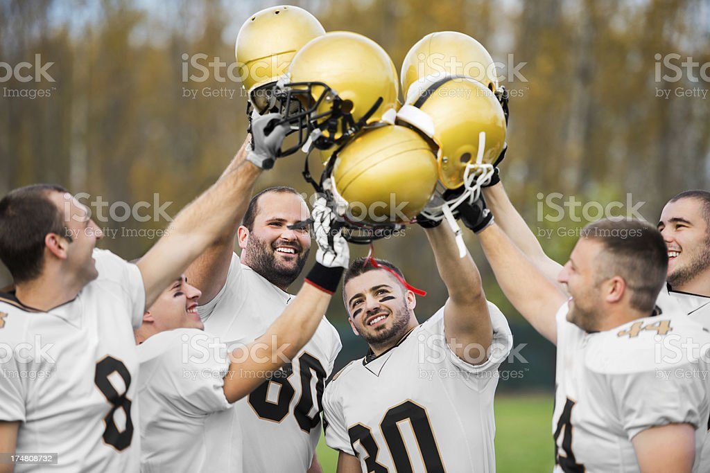 American football winning team. royalty-free stock photo