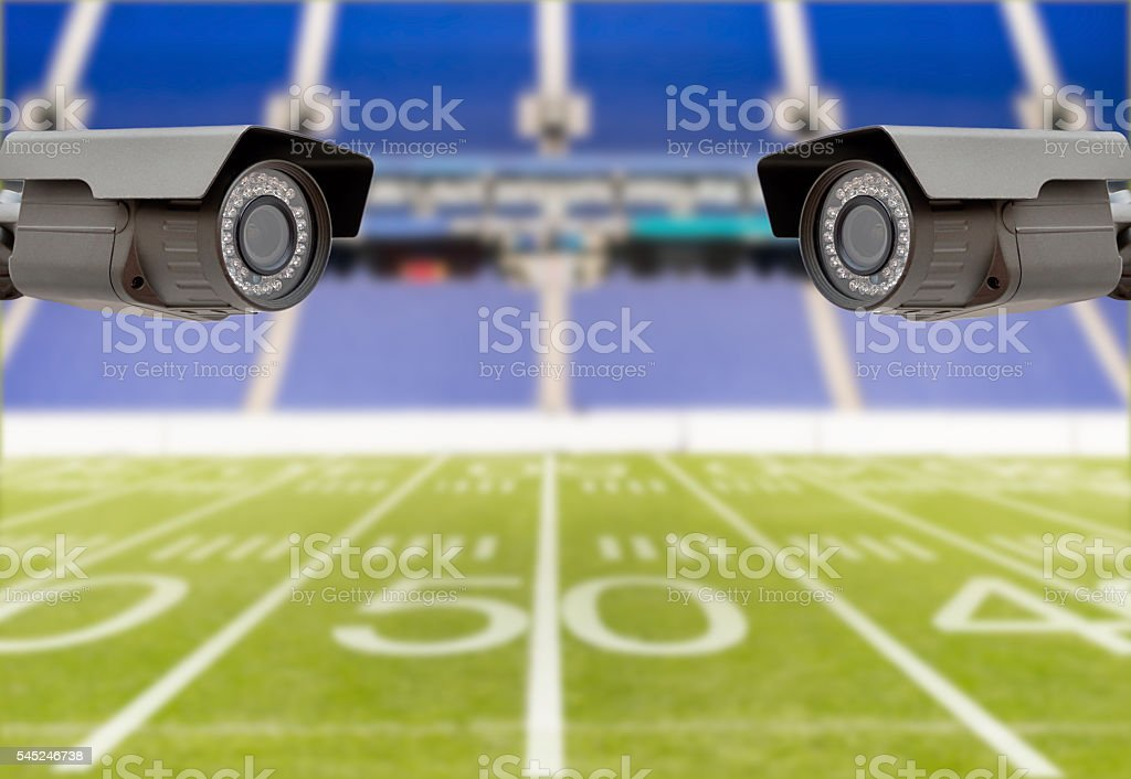 American fotball stadium security stock photo