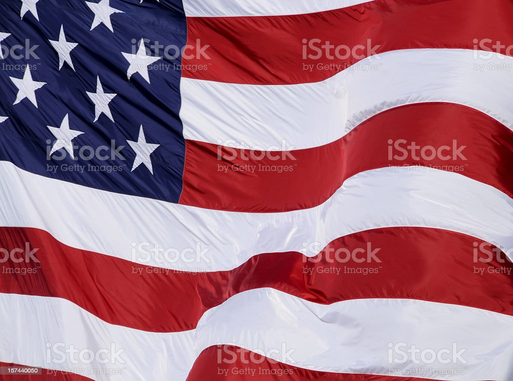 American Full Frame Flag royalty-free stock photo
