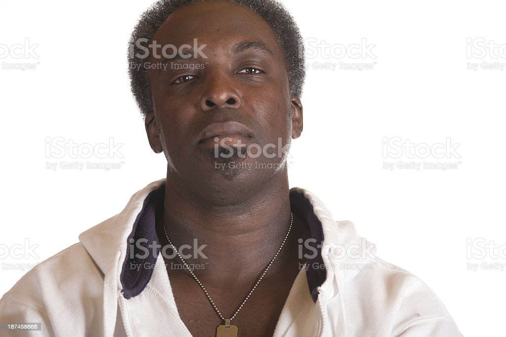 american gangster in sweat suit stock photo