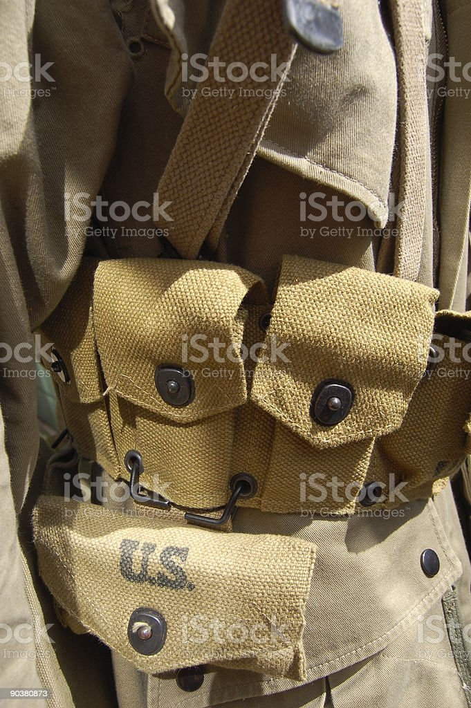 American Garand Belt. royalty-free stock photo