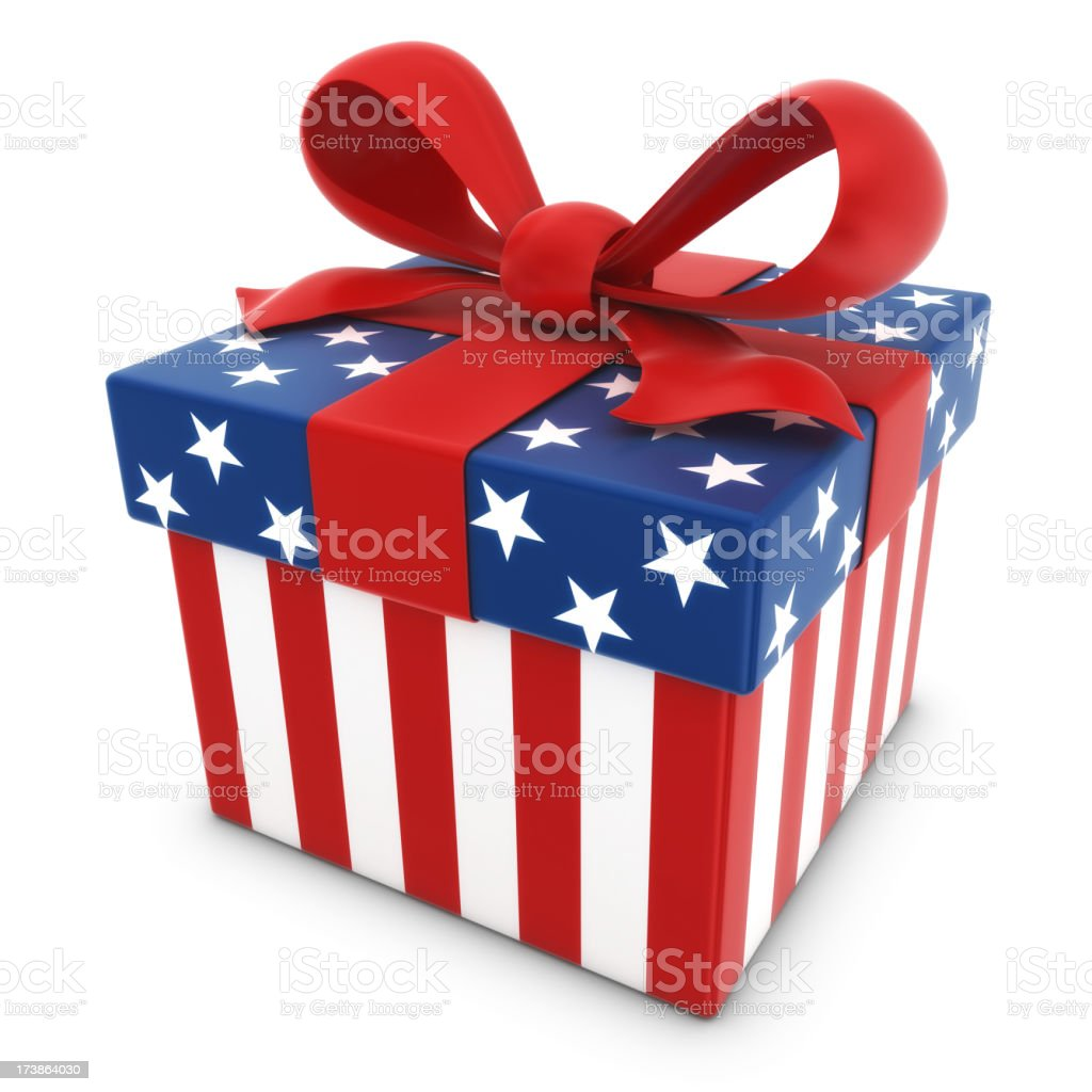 american gift box royalty-free stock photo