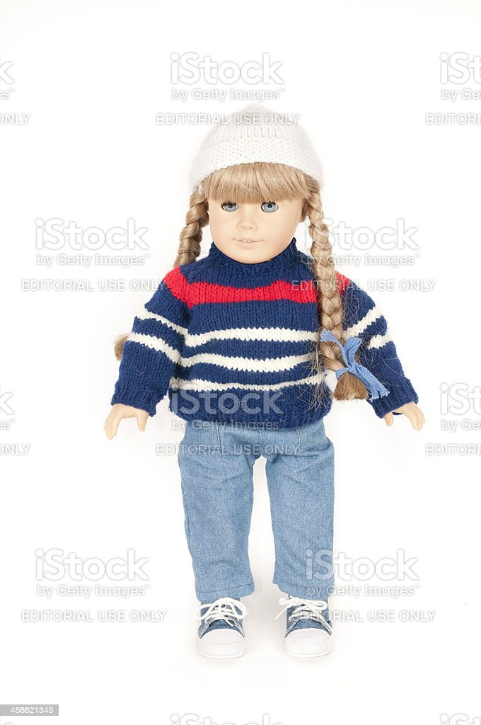 American Girl Doll Kirsten with Blonde Braids stock photo