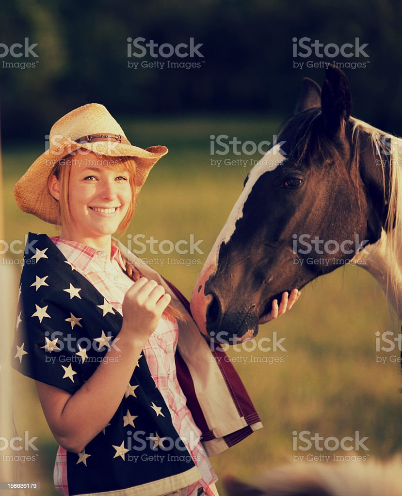 American Girl royalty-free stock photo