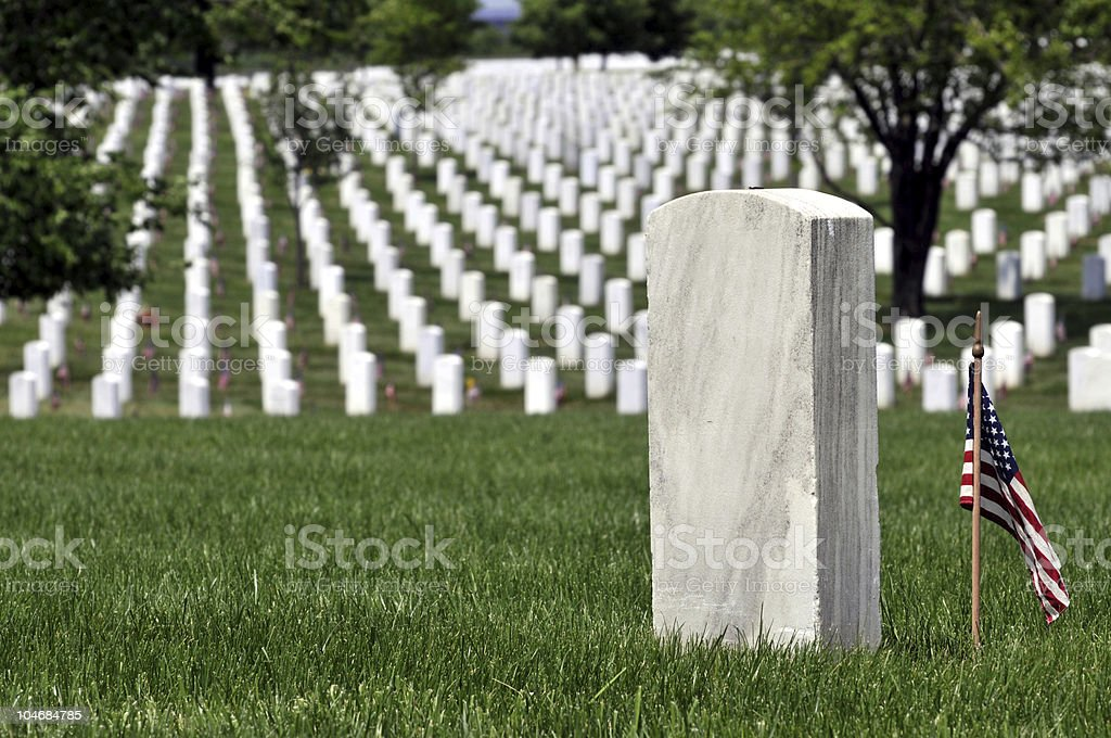 American grave for fallen military stock photo