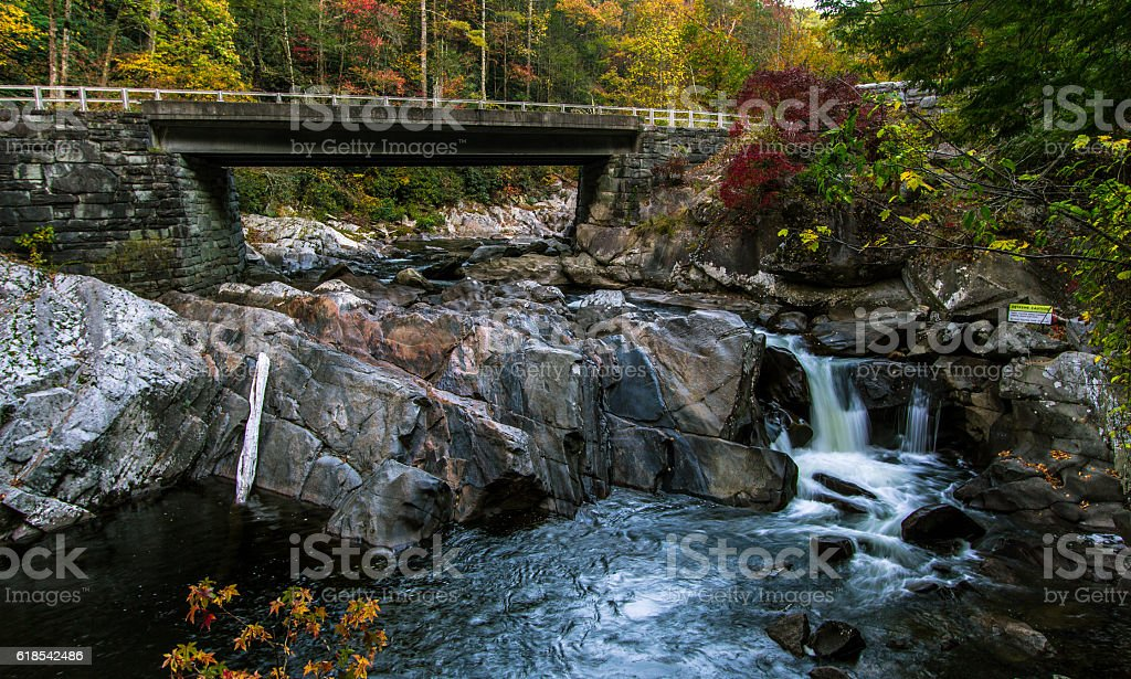American Great Smoky Mountains Road Trip stock photo
