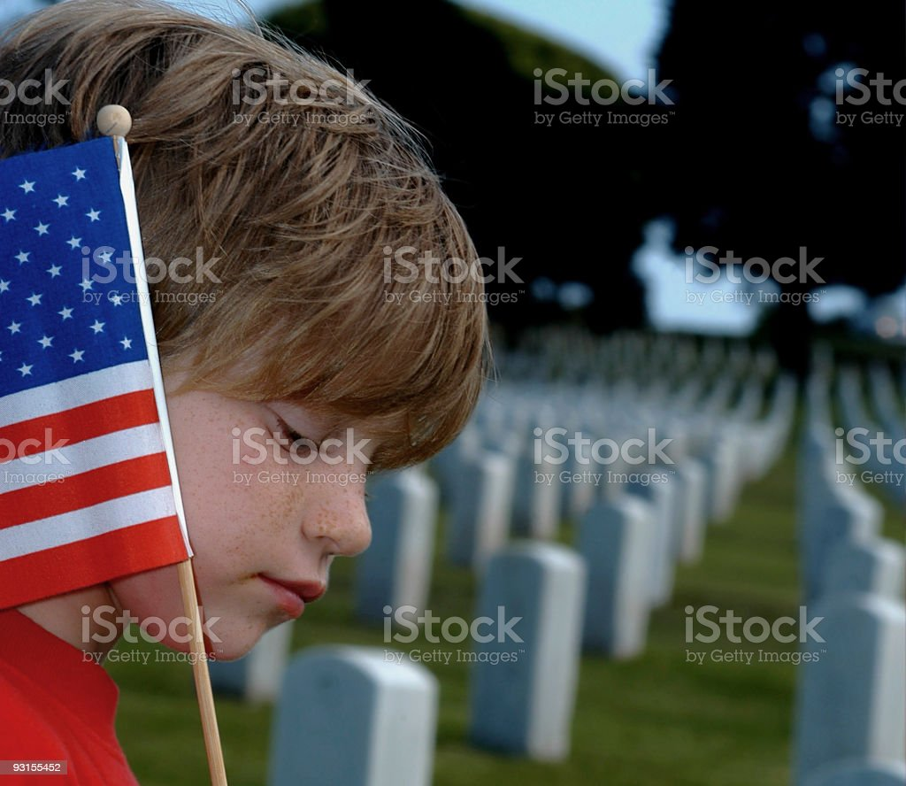 American Grief stock photo