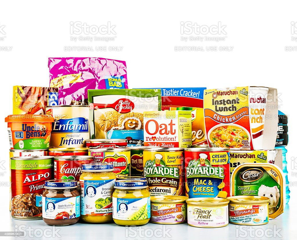 American Grocery Collection stock photo