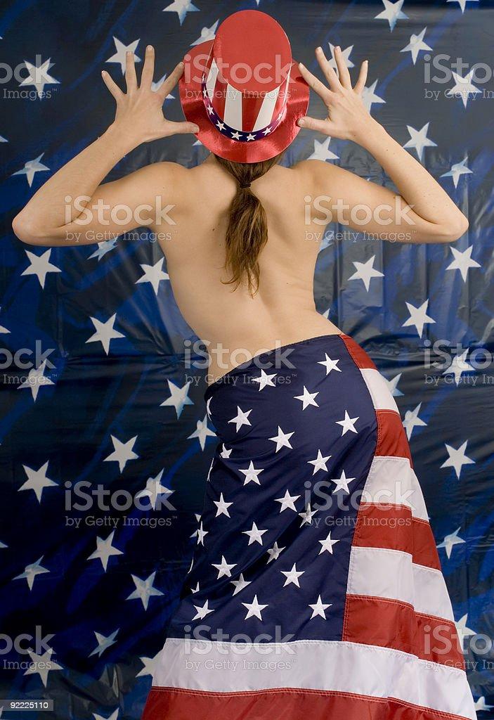 American Grrl! royalty-free stock photo