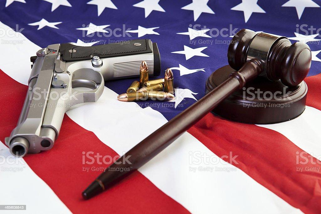 American Gun Laws stock photo