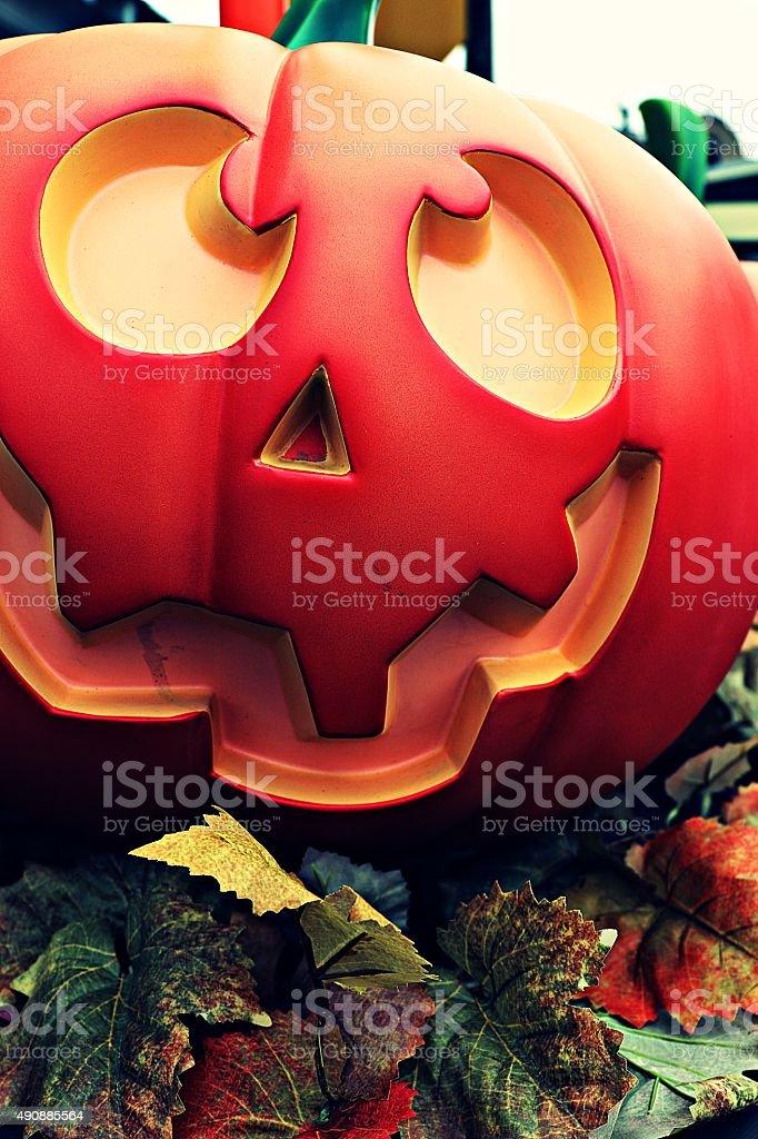 American, Halloween, street decoration, Horror Nights,Pumpkin lantern stock photo