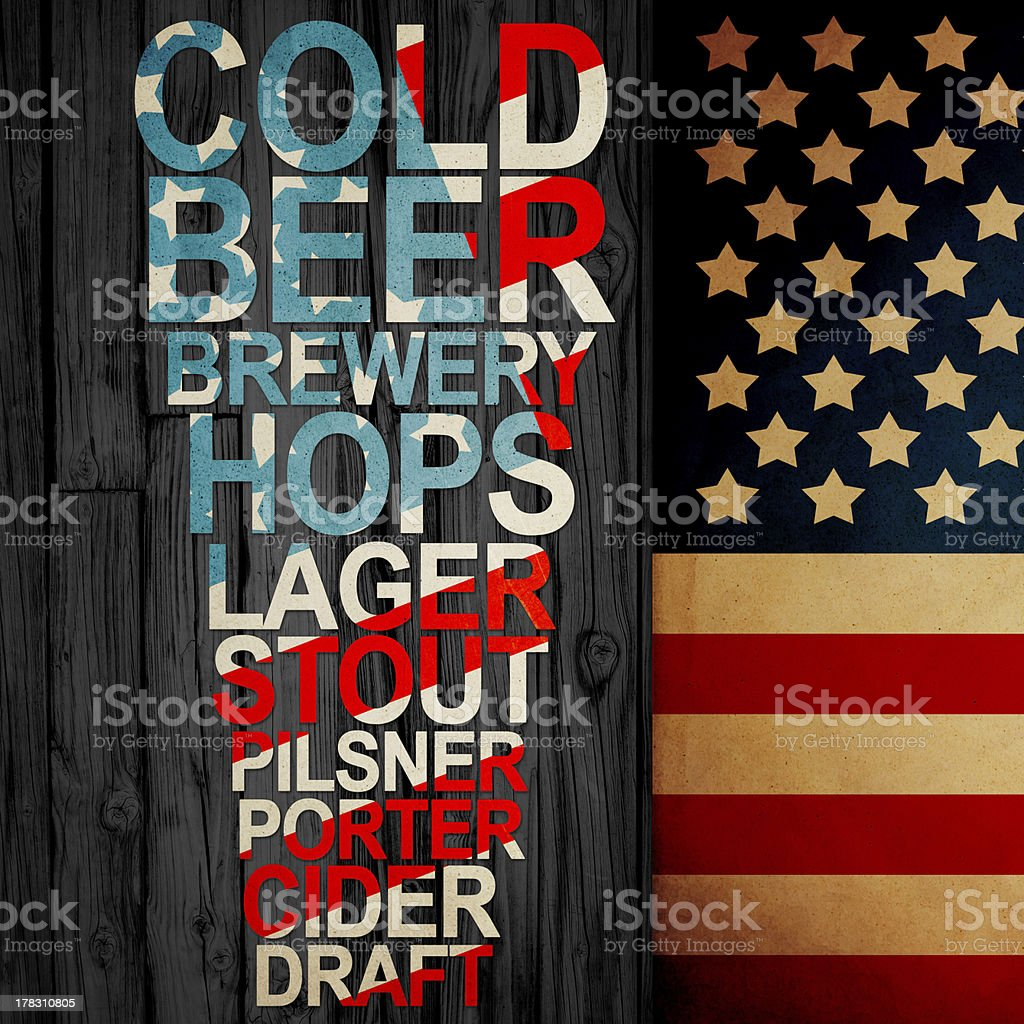 American Handrafted Beer Creative Ad royalty-free stock photo