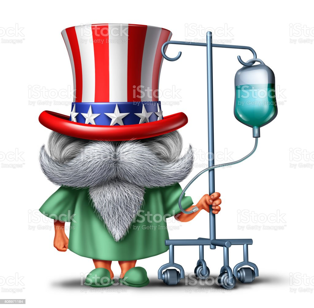 American Health Patient stock photo