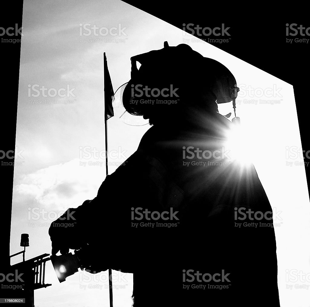 American Hero | Angel on my Shoulder | Black and White royalty-free stock photo