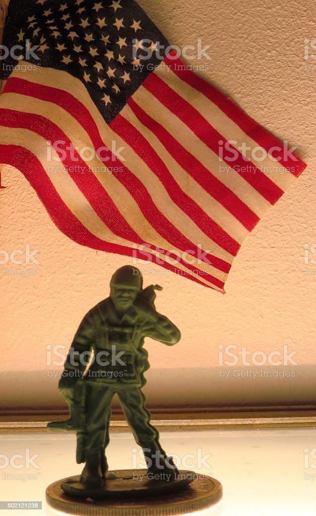 American Hero Concept stock photo