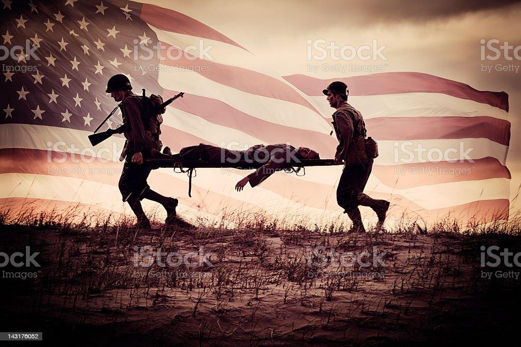 American Heroes III stock photo