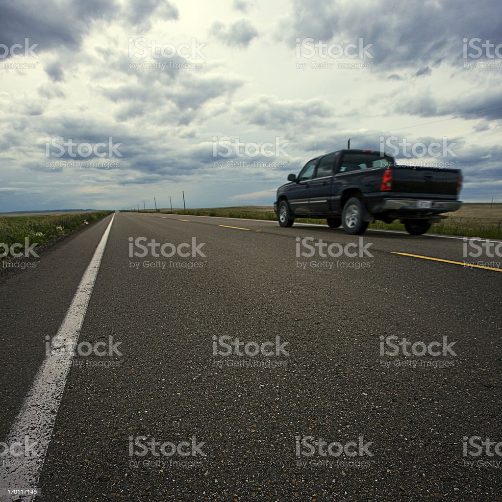 American highway royalty-free stock photo