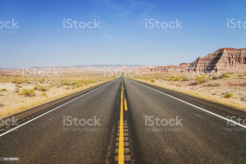 American Highway through Arizona royalty-free stock photo