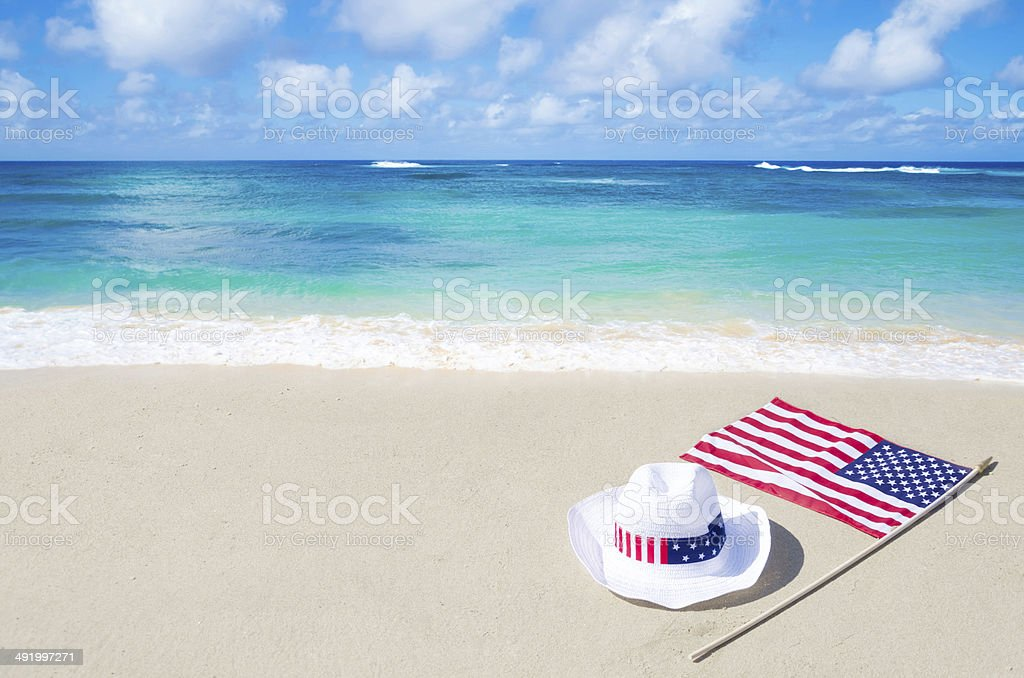 American holidays background with hat stock photo