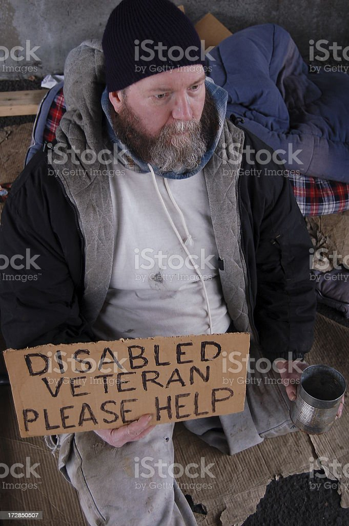 American Homeless stock photo