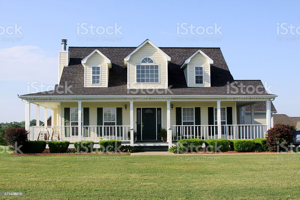 American Home-Modern Country Style stock photo