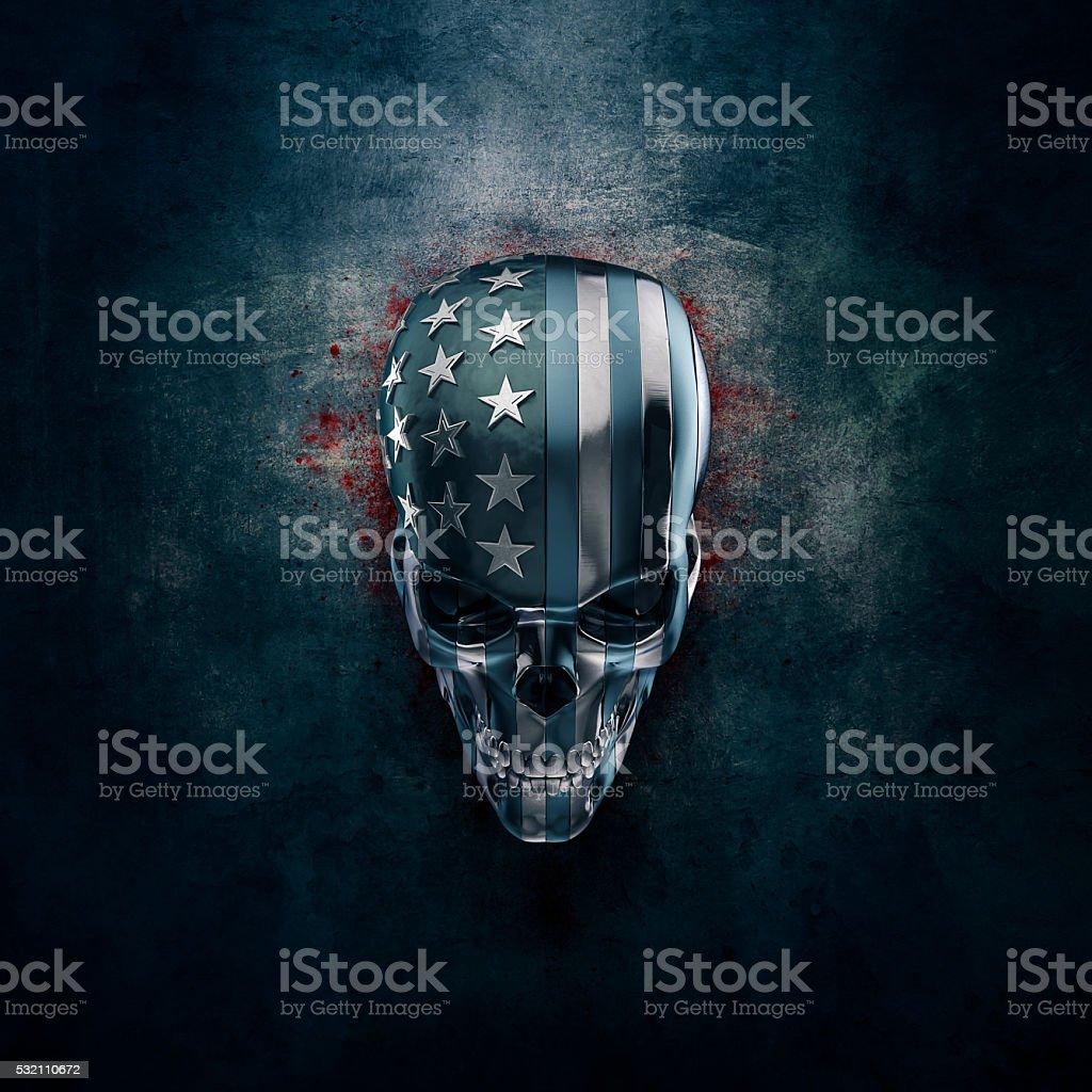 American horror in metal stock photo
